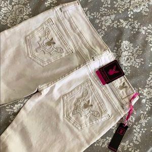 New PLAYBOY white skinny denim jeans